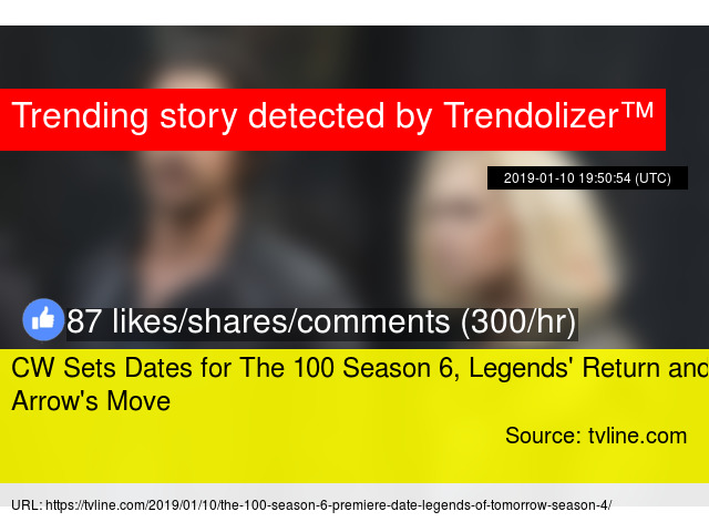 CW Sets Dates for The 100 Season 6, Legends'