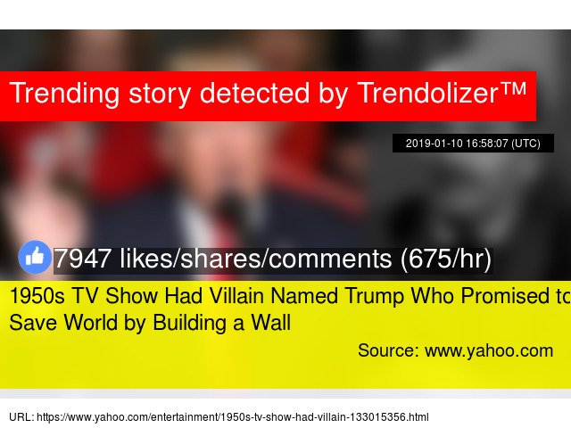 1950s TV Show Had Villain Named Trump Who Promised to Save