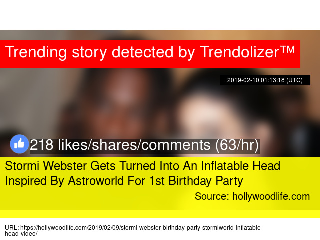 Stormi Webster Gets Turned Into An Inflatable Head Inspired