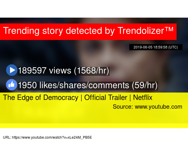 The Edge of Democracy   Official Trailer   Netflix