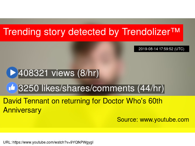 David Tennant on returning for Doctor Who's 60th Anniversary