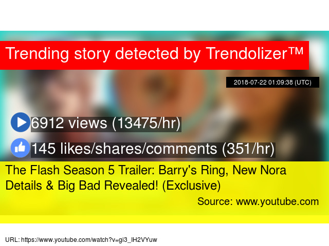 The Flash Season 5 Trailer: Barry's Ring, New Nora Details