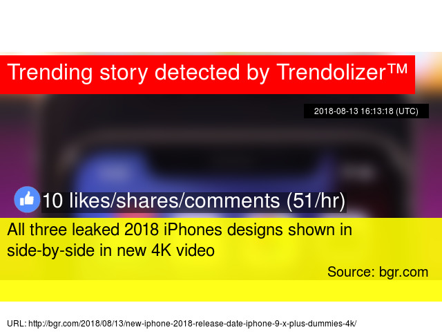 All three leaked 2018 iPhones designs shown in side-by-side